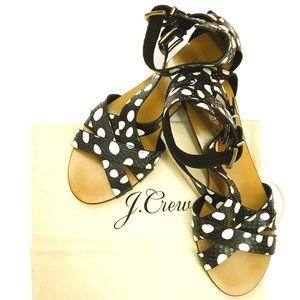 JCrew Snakeskin sandals